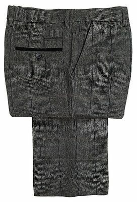 Mens Marc Darcy Tweed Check Trousers Style Dx7 - Charcoal Grey