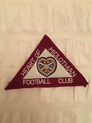 Hearts FC: Embroidered Triangular Motif Badge