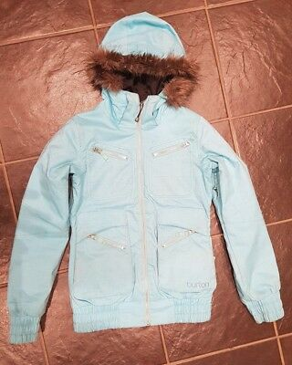 Burton Womens Snow Jacket Blue Xs (Size 8)