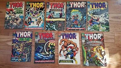 Thor #128 to # 136 inclusive, 9 issues