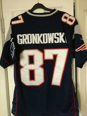ROB GRONKOWSKI NEW ENGLAND PATRIOTS NFL JERSEY 87 stitched graphics