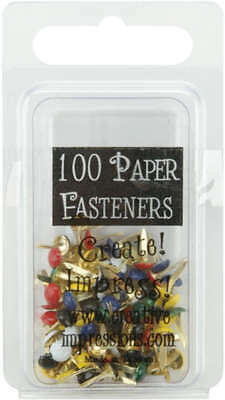 Mini Painted Metal Paper Fasteners 3mm 100/Pkg Round   Primary CI90190