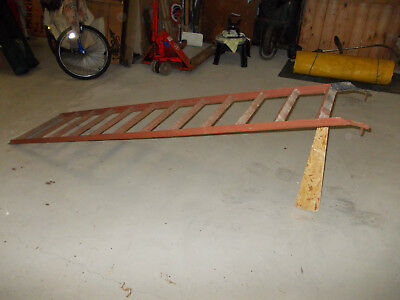 Motorcycle ramp and rack