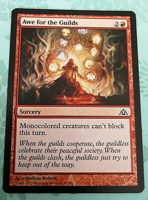 Awe For The Guilds NM Red Common Dragons Maze Magic The Gathering Card MTG