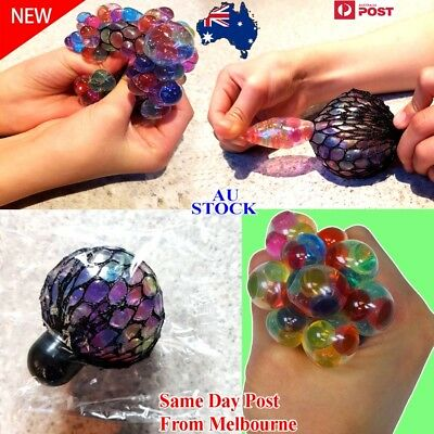 NEW Sensory Squishy Mesh Ball Grape Anti Stress ADHD Relief Squeeze Abreaction