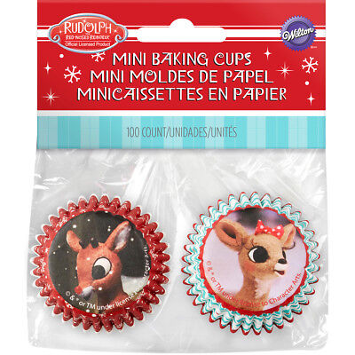 Mini Baking Cups Rudolph The Red Nosed Reindeer W7011