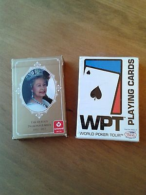 World Poker Tour Playing Cards and The Queen's Diamond Jubilee Playing Cards