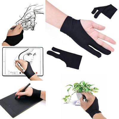 Artist Design Anti Fouling Two Fingers Glove For iPad Pro Wacom Tablet Drawing Z