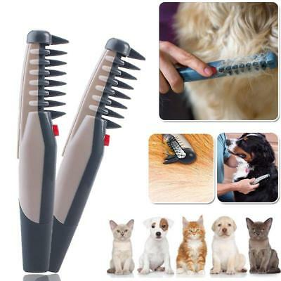 Electric Pet Dog Grooming Comb Hair Trimmer Knot Out Tangles Tool Brushes