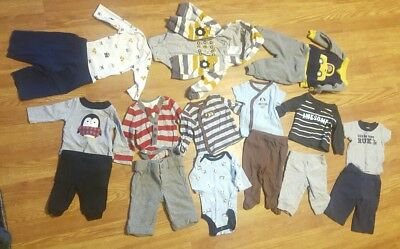 Baby Boy fall winter Newborn Lot Of Clothes Outfits pants long sleeve jacket