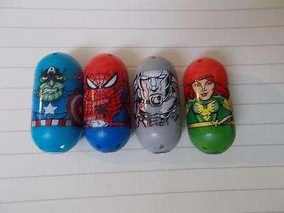 Marvel Mighty Beanz Lot, Captain America Skrull (Zombie) 40, Spider-Man 1 & More