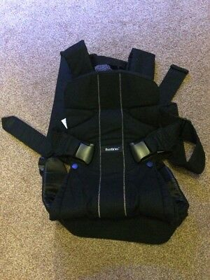 BabyBjorn Baby Carrier ONE, Black Cotton Mix