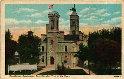 Dr Jim Stamps Us Courthouse In Greensburg Indiana Postcard