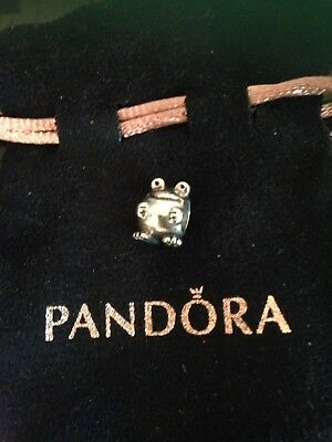 AUTHENTIC Pandora Sterling Silver Frog Charm Bead #790247 - Retired