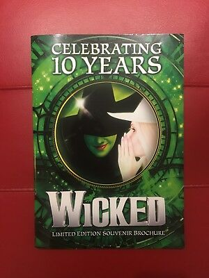 Limited Edition Wicked the Musical 10 Year Glossy Souvenir Programme Brochure