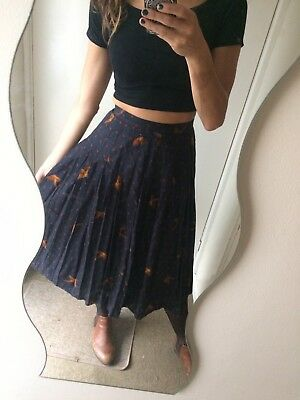Vtg Style Country Classics Midi pleated Skirt Size 8-10