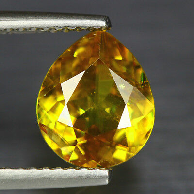 2.22 Cts_Diamond Top Luster_100 % Natural Unheated Golden Yellow Red Spot Sphene