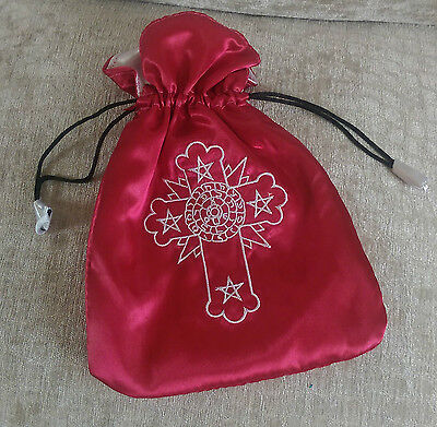 Rosicrucian Cross Red and White Tarot Bag