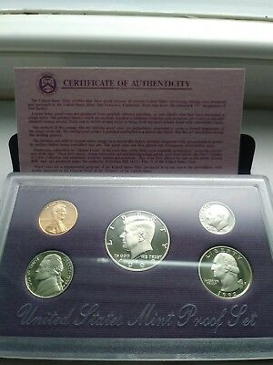 1992 United States Mint Silver Proof Set - Original package and COA