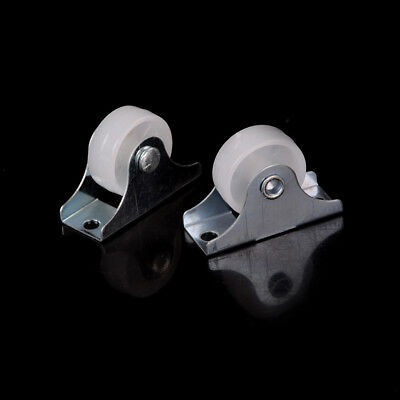 "2pcs 1"" Diameter Caster Wheel Fixed Metal Top Plate Rigid Caster Cute PB"