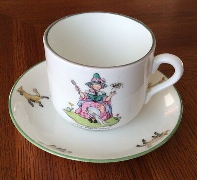 Rare Crown Staffordshire Vintage Children's Tea Cup and Saucer
