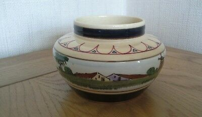 Decorative Gouda Dutch scene dish