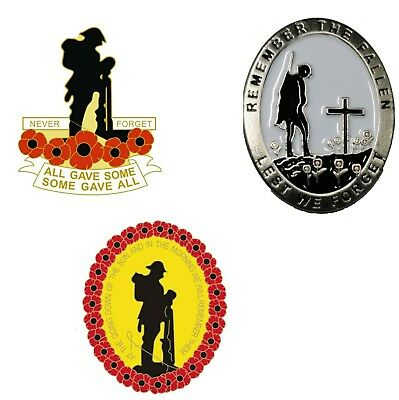 Lone soldier Remembrance Day Poppy Pin Badges For Poppy Appeal