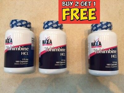 Yohimbine HCL 100 Capsules 2.5 mg ((BUY 2 PCS GET 1 FOR FREE))