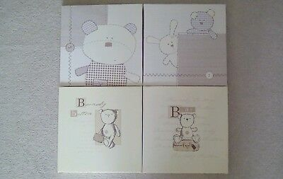 Used 4 x Baby Nursery Canvases, Mamas & Papas, Excellent Condition