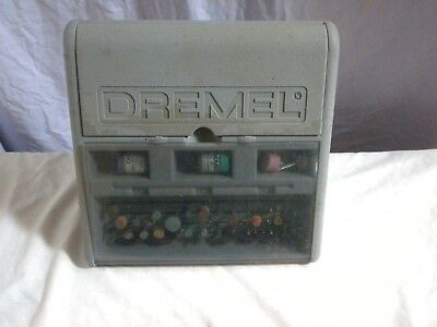 Dremel Drill Hardcase Toolbox With Some Accessories Inc Polishing Compound