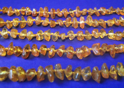 Wholesale 10 pcs Baltic Amber Baby Necklaces  Egg , Brandy Color