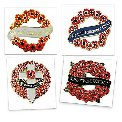 Centenary Remembrance Day Poppy Pin Badges For Poppy Appeal