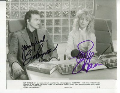BURT REYNOLDS AND GOLDIE HAWN autograph HAND SIGNED 5930