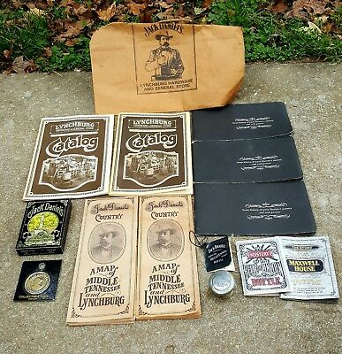 LOT of Vintage Jack Daniel's Whisky Souvenirs Map Catalog Bottle Tags Cards