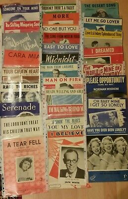 Sheet Music - mid to late 50's - Job Lot 90 qty. - Doris Day  Frank Sinatra  etc