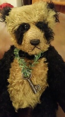 Collectable handmade lovely mohair panda bear one off by Ruben bears pre owned