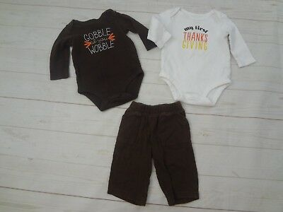 Infant 3 PC. Mixed Clothing Lot THANKSGIVING- Size 3-6 Months
