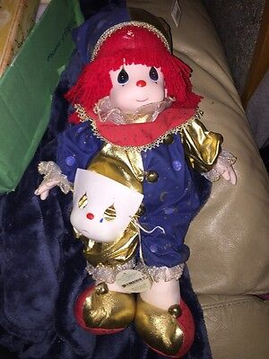 """Precious Moments """"Happy"""" Clown Doll 16"""" Tall New With Tags"""