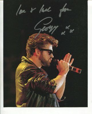 GEORGE MICHAEL autograph HAND SIGNED 5966
