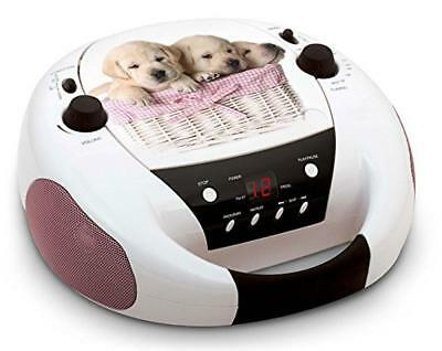 Big Ben Interactive CD52DOGS Lettore CD Radio FM AUX Dogs, Multicolore - NUOVO
