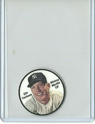 Baseball Disc Style, Mickey Mantle, In Top Load Holder, New York Yankees