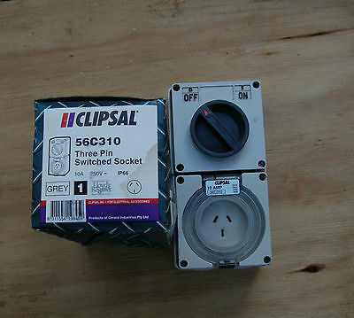 Clipsal 56C310 Switched Socket Outlet