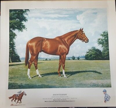 Signed & Numbered Secretariat Horse Racing Richard Stone Reeves Lithograph (j2)