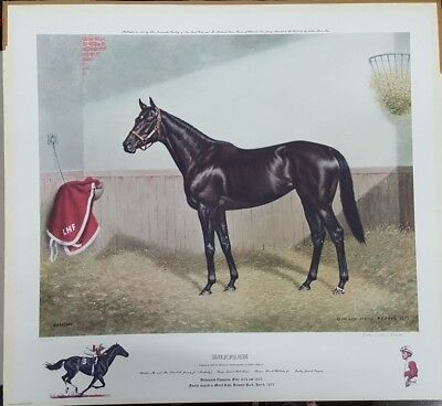 Signed & Numbered Ruffian Horse Racing Richard Stone Reeves Lithograph (j2)