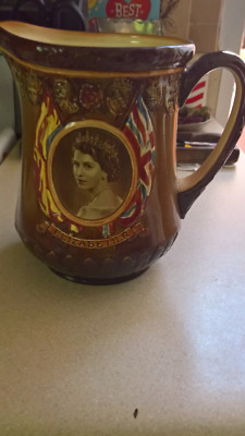 Vintage Royal Doulton ,THE CORONATION OF QUEEN ELIZABETH II Pitcher
