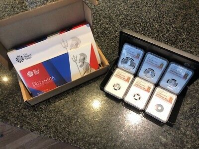 Rare!  2014 Silver Britannia Six Coin Proof Set