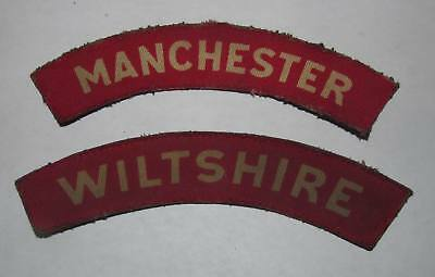 Lot of 2 titles Wiltshire and Manchester