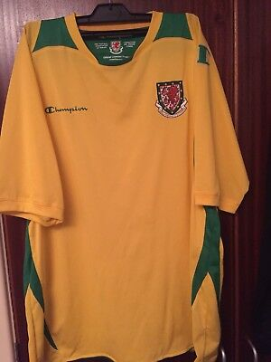 Wales 2008-09 Away Shirt Champion XXL