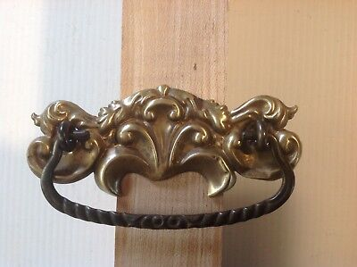 Nice quality Stamped Victorian brass drawer pulls