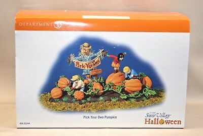 Pre-Owned Dept 56 Halloween Village Accessory PICK YOUR OWN PUMPKIN
